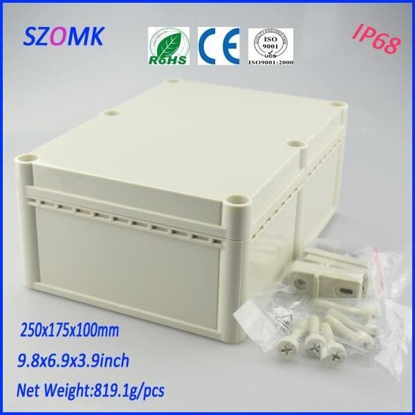 ФОТО 1 piece IP 68 waterproof electronics High quality ABS material plastic box 250*175*100mm 9.8*6.9*3.9inch