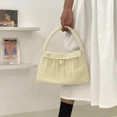NEW Transparent Crystal Bag Designer Pearls Jelly Bag Clutch Clear Bag Crossbody Messengers Women Crystal Handbag