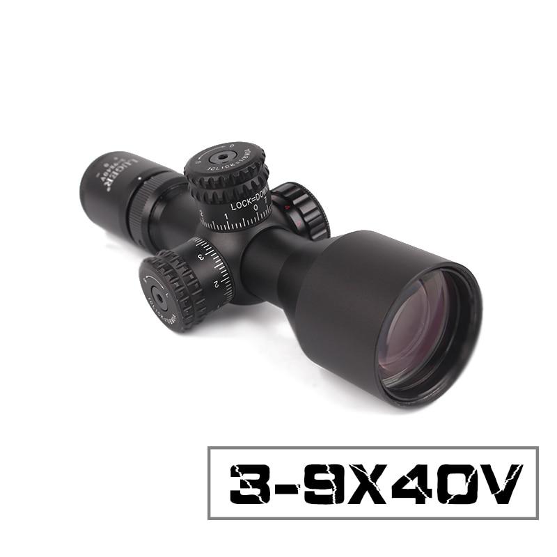 2018 nouveau 3-9x40V lunettes de chasse rouge/vert point Mil-Dot illuminé courte portée de visée en plein air Sniper réticule lunette de visée tactique