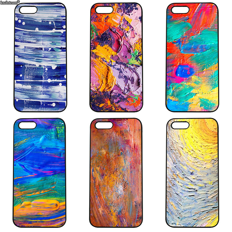 Funny Nordic Abstract Oil Painting Horse Hard Phone Case Cover for iphone 8 7 6 6S Plus X 5S 5C 5 SE 4 4S iPod Touch 4 5 6 Shell