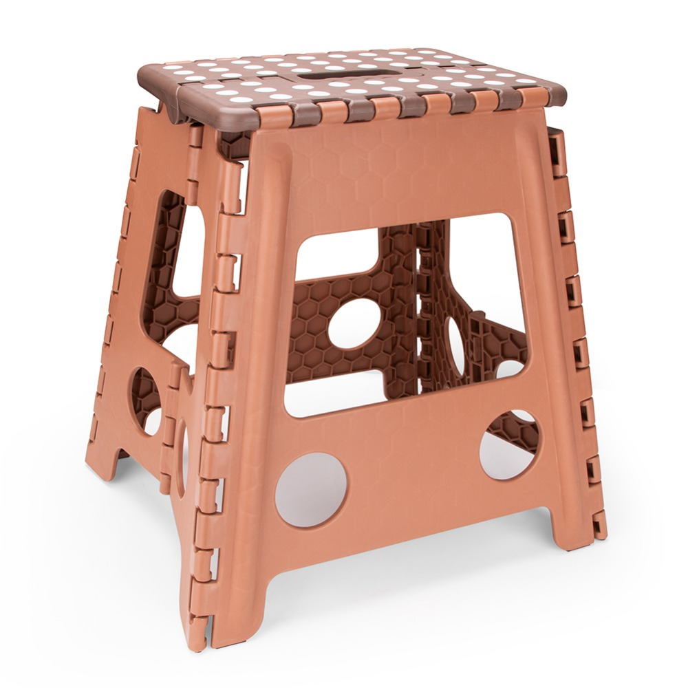 Living Plastic Folding Step Stool 15 inch Height Premium Foldable Stool for Kids Adults Kitchen Garden