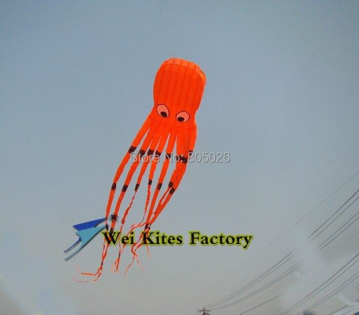 Livraison gratuite 8 m pieuvre cerfs-volants jouet volant avec poignée cerfs-volants doux lignes kitesurf fée cerf-volant rond enfants cerf-volant vente en gros - 3