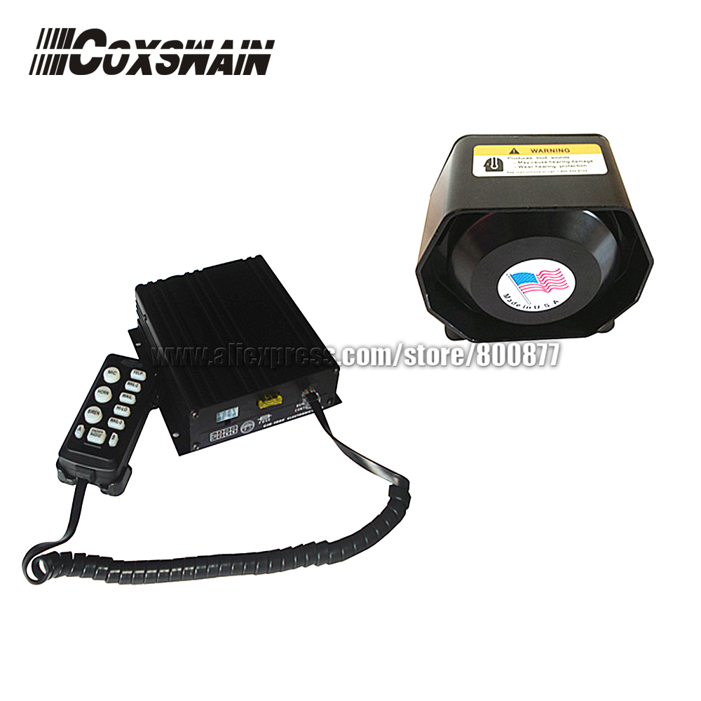 (CJB-200Z) PA system for car, 200W Siren, 10 tones/ with Microphone, 2 light switch, Volume adjustable (with 200W speaker)
