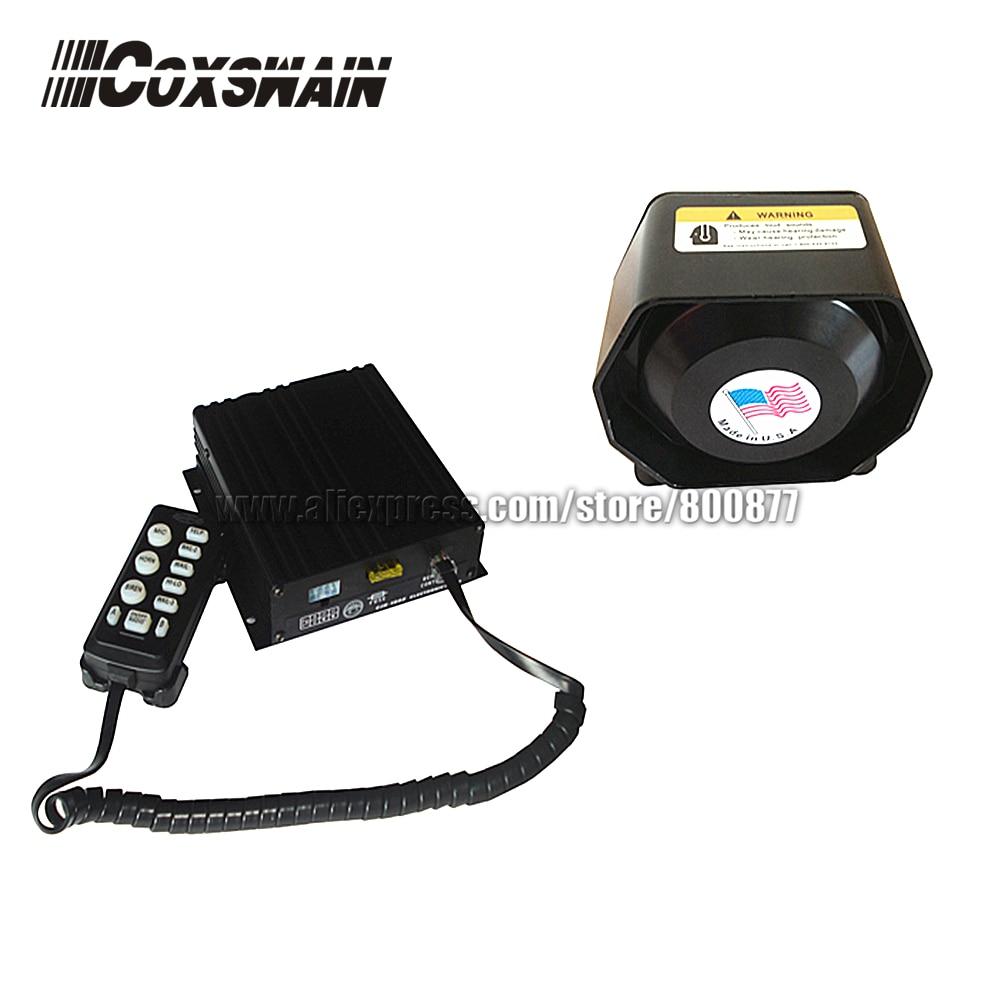 (CJB-200Z) Coxswain 200W Siren, 7 Tones With Microphone, 2 Light Switch, Volume Adjustable (Come With 200W Speaker)