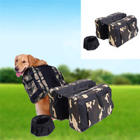 Dog Oxford Cloth Saddlebag Outdoor Travel Hiking Backpack For Middle And Large Size Dog