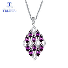 Tbj новинка 2019 элегантное ожерелье с подвеской из серебра