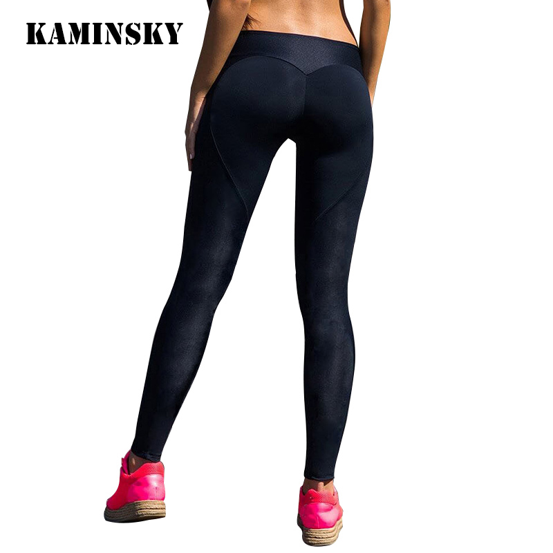 Kaminsky Black Slim Pants Women Push Up Heart   Leggings   Pants High Waist Sexy Hip Solid Trousers For Women Sexy Ladies   Leggings