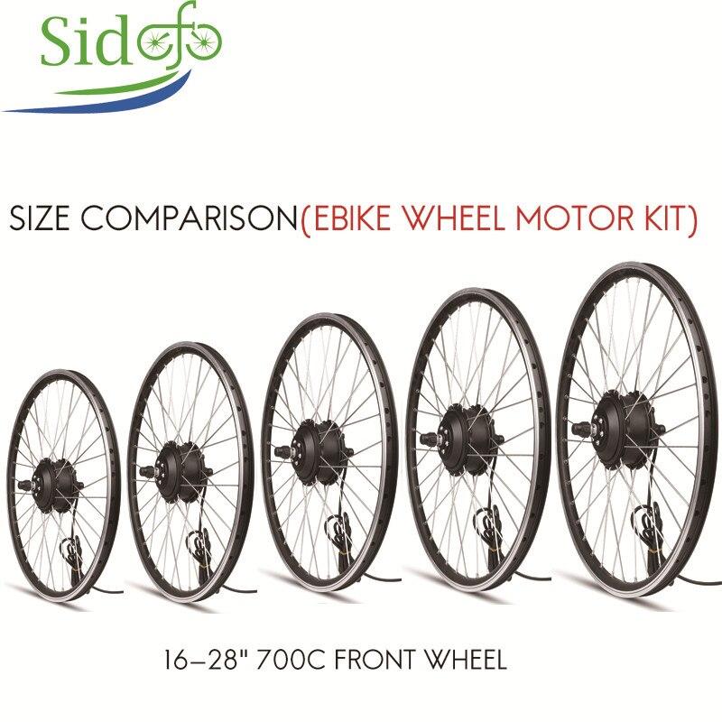 E vélo roue moteur Brushless engrenage moyeu moteur électrique pour fauteuil roulant avant moteur jante Kit 36/48 V 500 W pour Scooter fourche taille 100mm