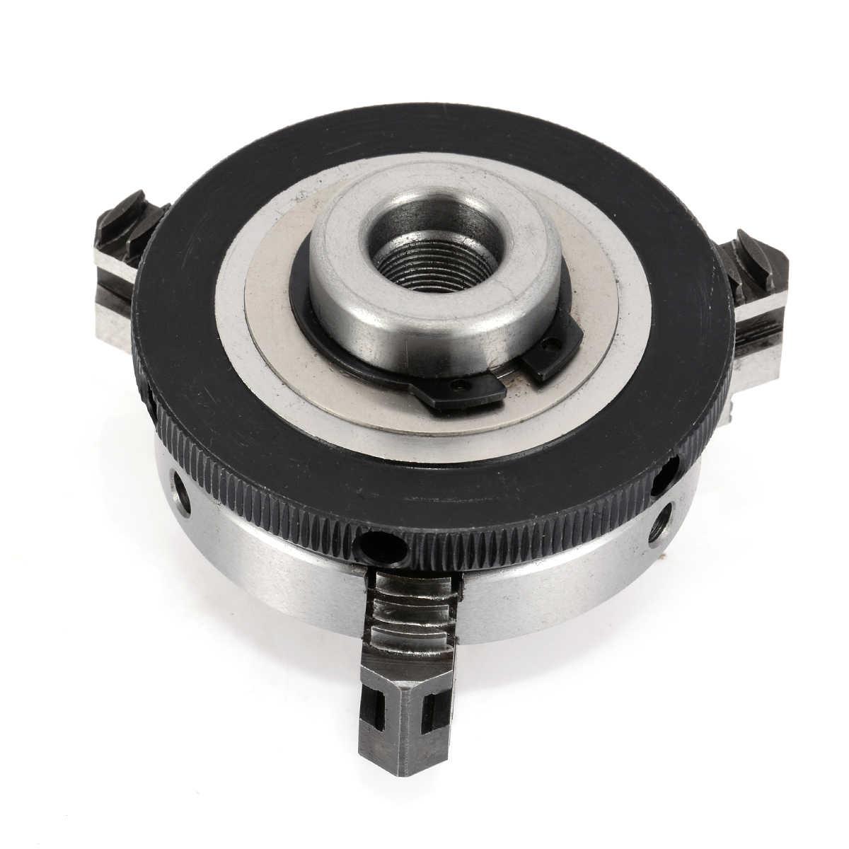 1 sztuk 63mm 3 uchwyt szczękowy 2.5 cal Mini tokarka metalowa uchwyty z 2 sztuk blokady pręty do obróbki metali akcesoria do maszyn narzędzie