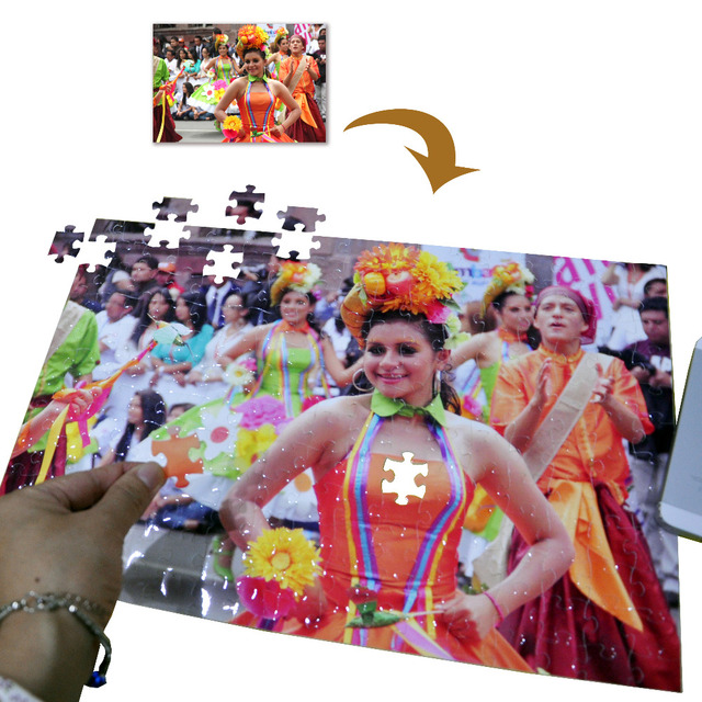 SST* 26X38cm with 204 pieces Photo Jigsaw Puzzle DIY Customized Birthday Gift Family Gift Kids Children Toys Custom Fashion
