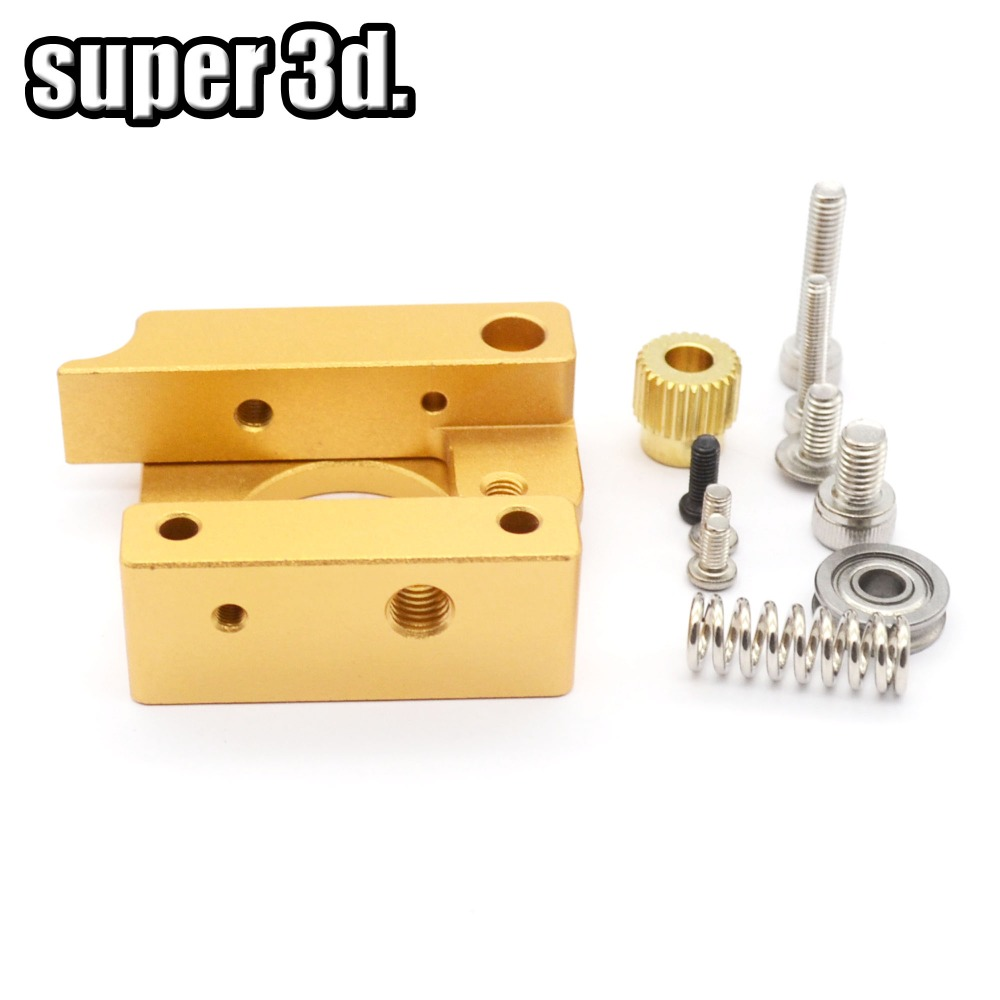 1set  MK8 single nozzle extruder aluminum block DIY kit Left hand For Makerbot Reprap extrusion printer head