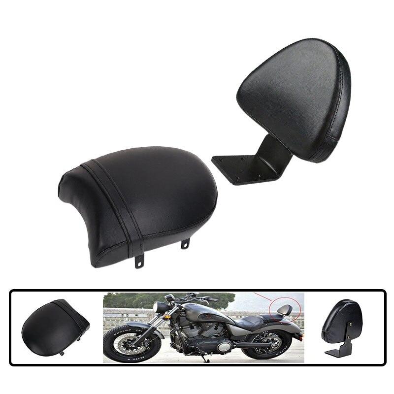 Motorcycle Black Backrest Sissy Rear Passenger Seat For Victory High-Ball Vegas Gunner Judge Kingpin Boardwalk Deluxe