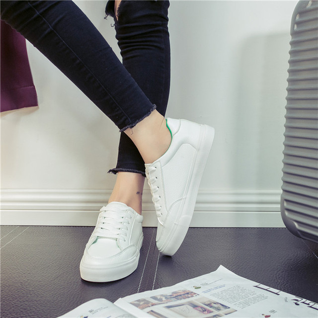 2017 Spring Autumn Shoes For Women Comfortably Lace-up Flats Shoes Women's Fashion Casual Shoes Girls Student Winter shoes