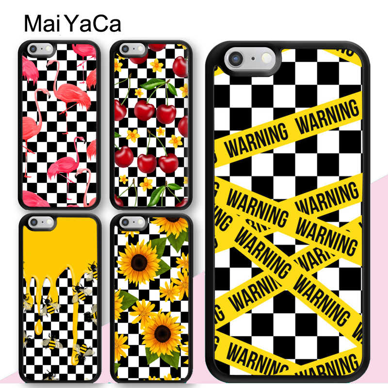 check out 46a2b 8add1 MaiYaCa Plaid Checked Checkered CHECKERBOARD PATTERNS Soft Phone Cases For  iPhone 6 6S 7 8 Plus XS Max XR 5S SE Back Cover Shell
