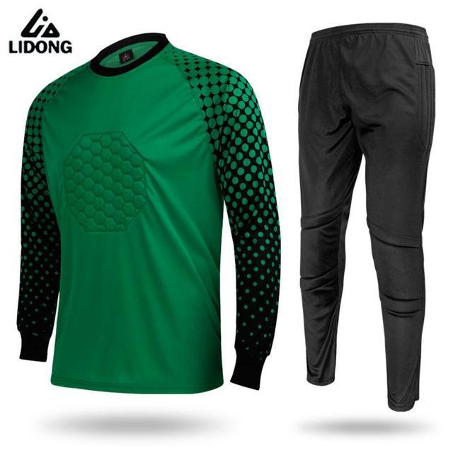 Camisas de futebol 2017 2018 Camisa Goleiro de Futebol Calças de Treinamento  de Futebol dos homens 13146a3f66c48