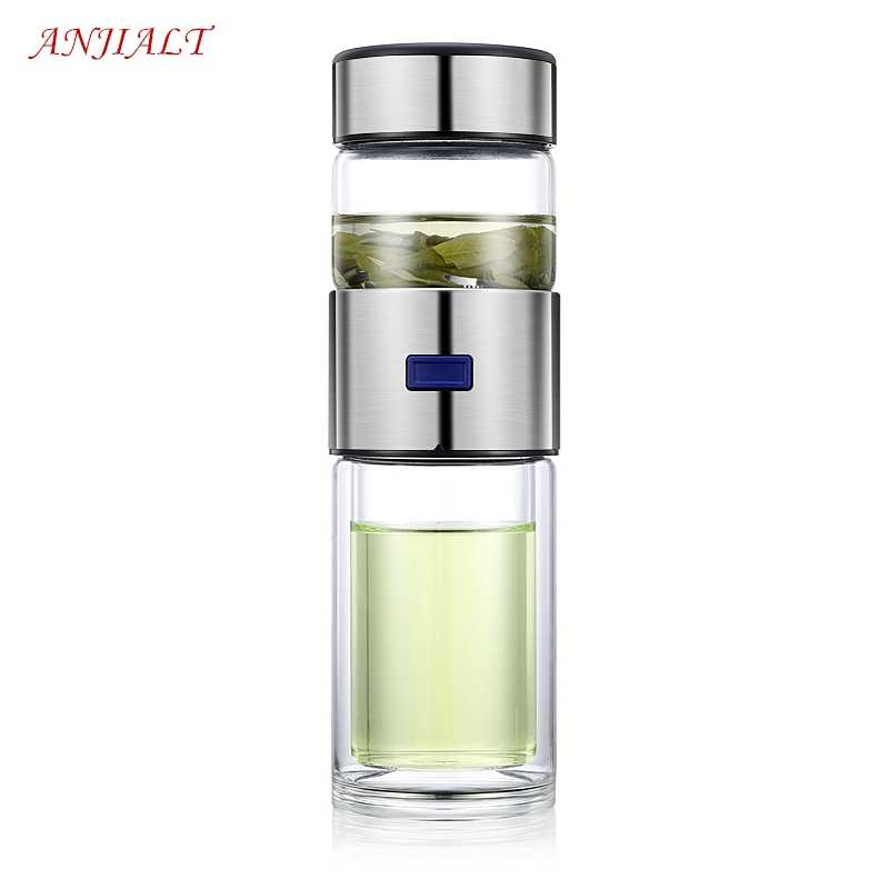 b103af90b8 400ml Tea Separation Glass Cup Tea Cup Tea Filter Drinking Cup Double Glass  Wine Car Travel