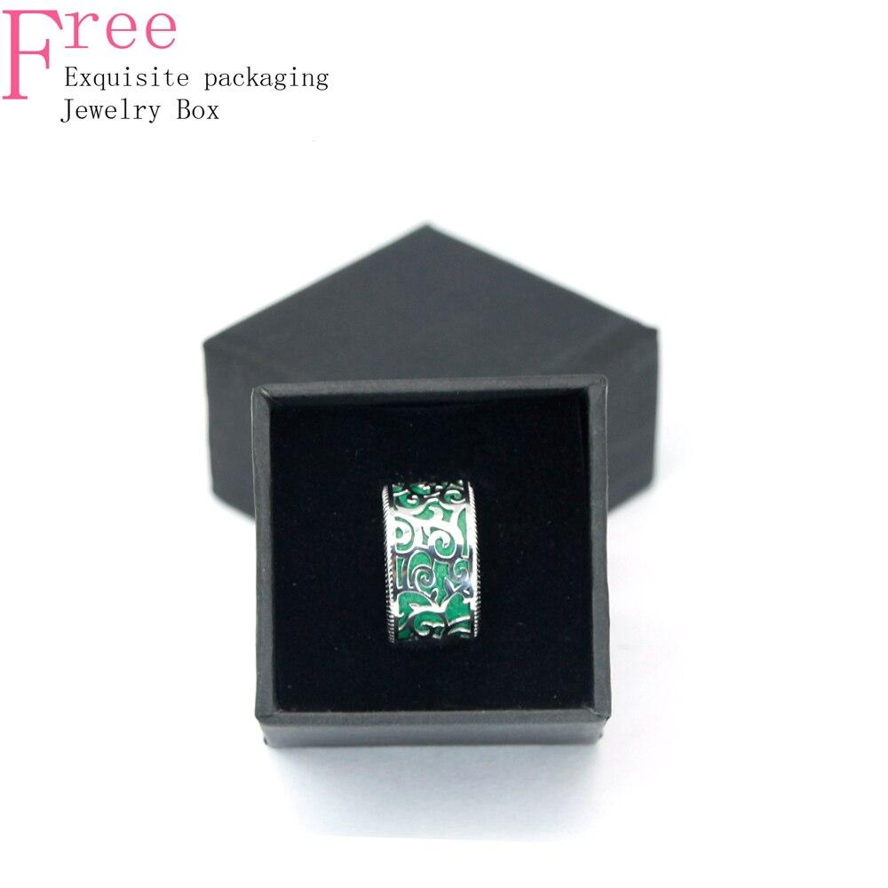 Legenstar anneaux de mariage pour femmes Vintage anneau de doigt évider argent 925 bijoux bague de fiançailles 3 dimensions anneaux de Designer - 6