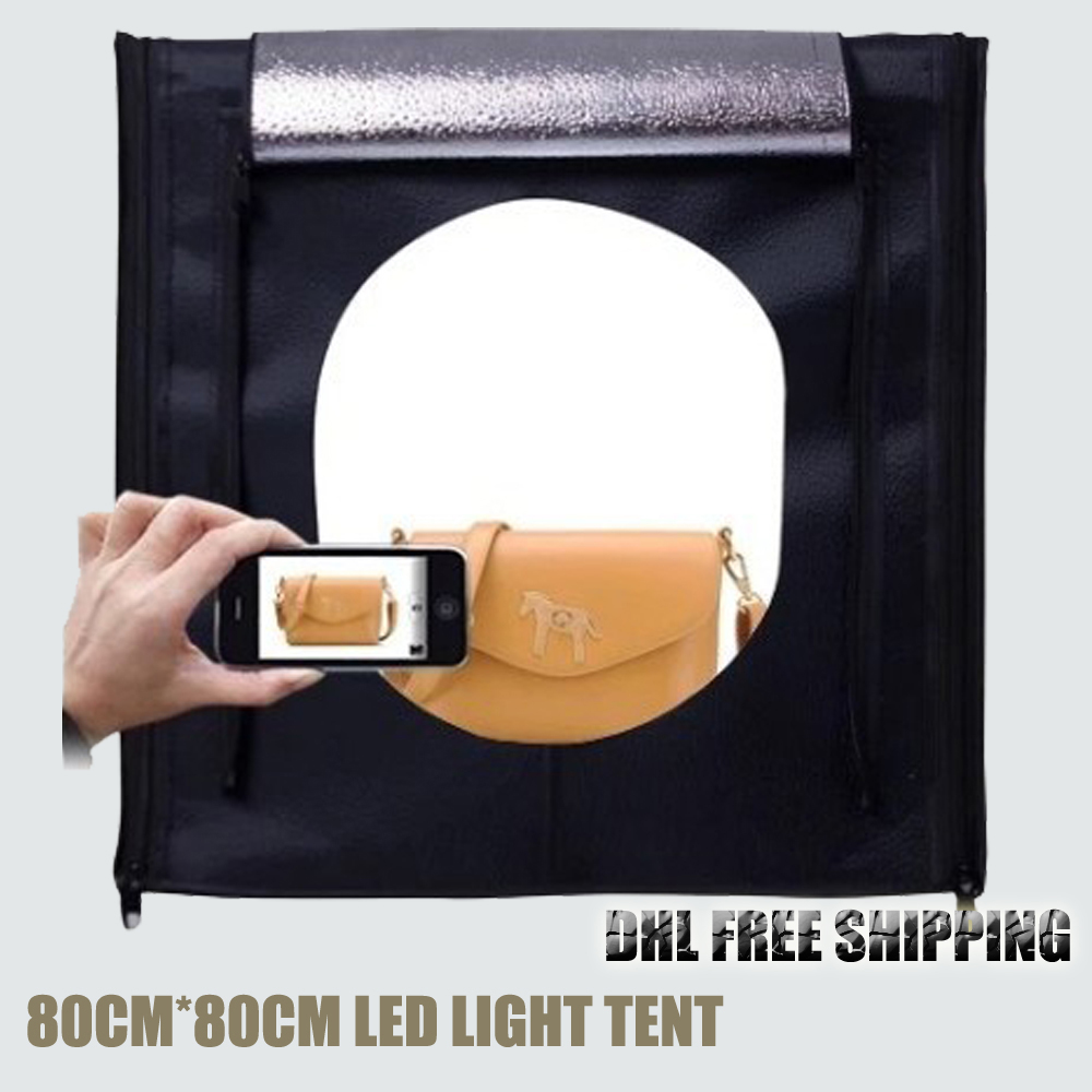 ASHANKS LED Softbox Fotografia Light Box 80*80cm Camera Photo Studio Porta Retrato Lighting Tent for Jewelry Toys Photo Shooting ashanks photography backdrops solid screen 1 8m 2 8m backgrounds porta retrato for camera fotografica photo studio