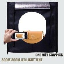 ASHANKS LED Softbox Fotografia Light Box 80*80cm Camera Photo Studio Porta Retrato Lighting Tent for Jewelry Toys Photo Shooting