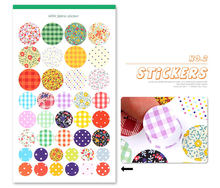 Fashion Multi-Function Photo Album Stickers - Dotted Canvas DIY Paper Sticker 6 Sheets / Set Decorative Album Diary PA27(China)