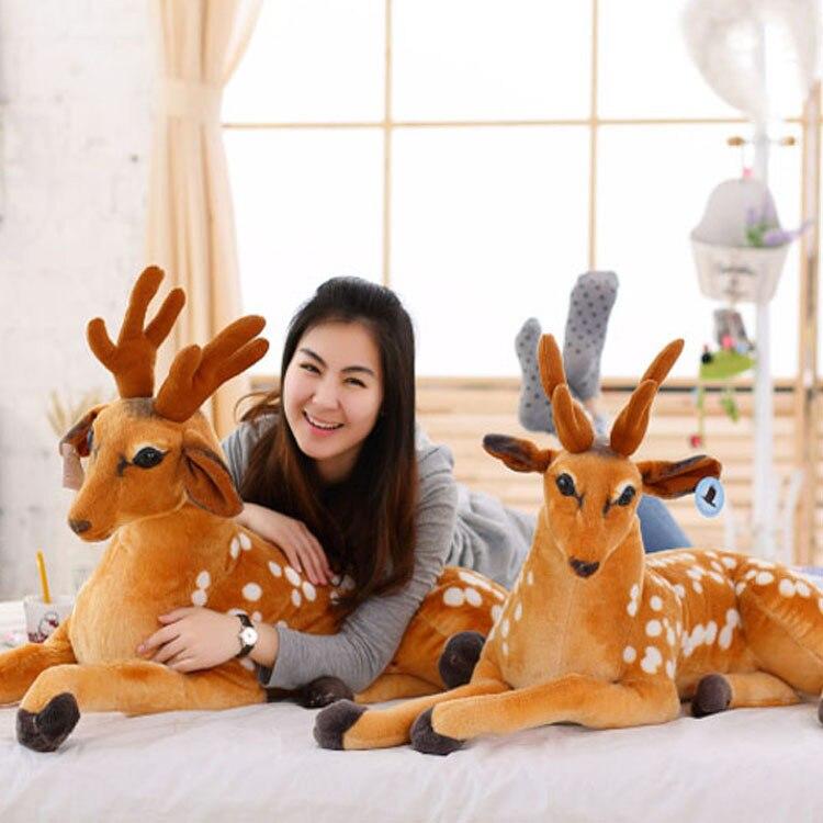 Лидер продаж 30 см 75 см Моделирование олень плюшевые игрушки укомплектованы пятнистого оленя игрушка Детские куклы дети подарок на день рож...