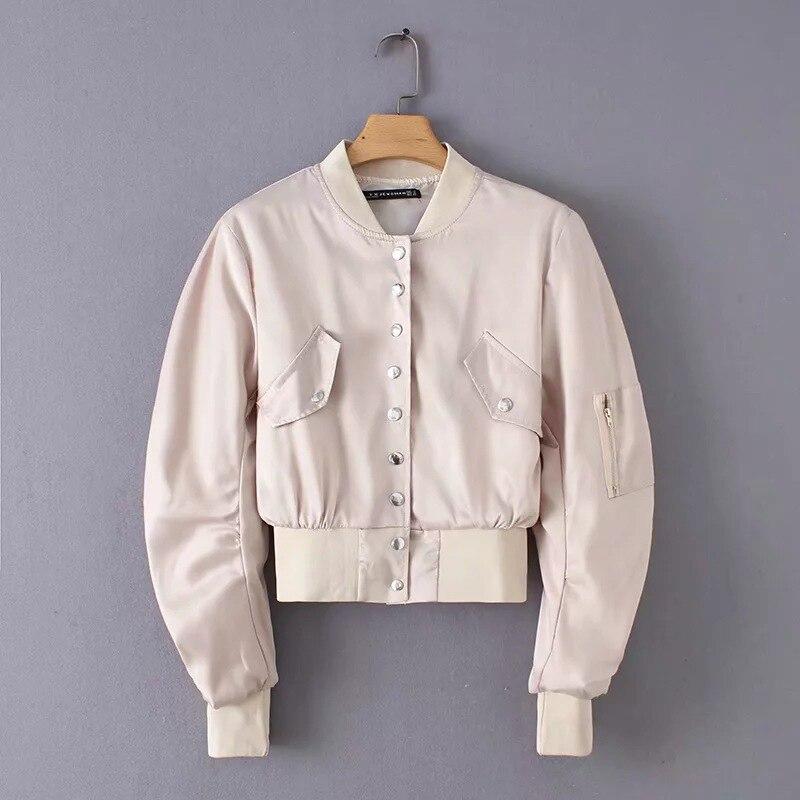 winter jackets and coats 2019 female coat casual military olive green bomber jacket women basic jackets plus size Outerwear