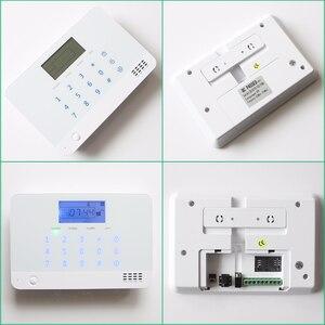 Image 5 - Nowa wbudowana antena czujnik szczeliny drzwi czujnik ruchu PIR bezprzewodowy LCD GSM karta SIM dom system alarmowy dym Flash syrena