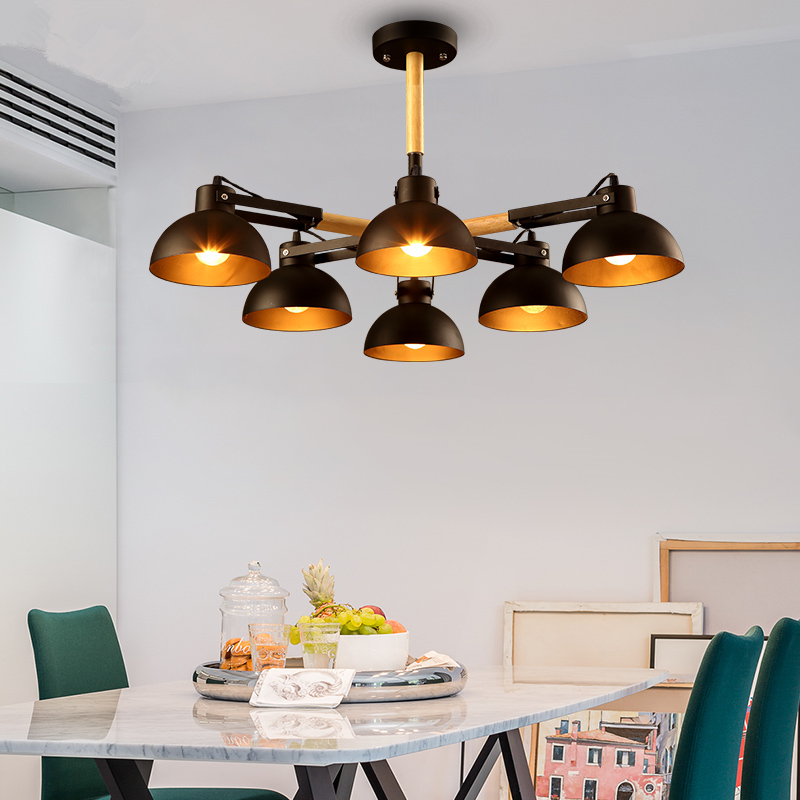 Nordic simple creative living room Ceiling lights bedroom restaurant lamps American retro ceiling lamps Ceiling lighting american simple glass ceiling lights creative living room bedroom senior hotel lobby lighting 3 4 6 9 heads ceiling lamps za