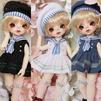 NEW 1/6 1/8 YOSD BJD Doll Clothes Lovely Black/White/Blue Navy Suit (5pcs)  BJD Doll Clothes