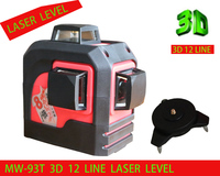 2018 new 3D 12 Red lines ,MW 93T 3D 12Lines laser level,Self Leveling 360 Horizontal,Vertical Cross Super Powerful