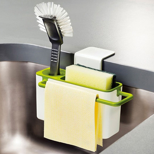 New Sponge Towel Brush Suction Cup Base Kitchen Sink Rack Holder  Organizer(China (Mainland