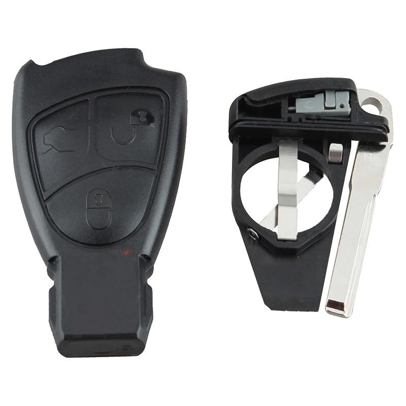 Mayitr Car-Styling 3 Button Remote Key Fob Case Shell+Key Blank for Mercedes Benz C E B S Class