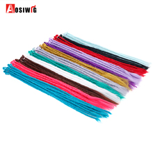 AOSI 24 inch 1-10Pcs/Lot Synthetic Handmade Dreadlocks Hair Extension Braiding Hair Reggae Hair Crochet Braid