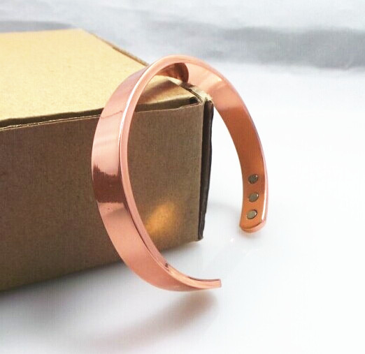 100 Copper Bangle 6 Magnets Health Balance Magnetic Pure Bracelet