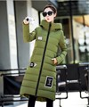 2016 new women's fashion winter coats girls casual slim green long style design down clothing sleeve lady red big size 3XL #H589