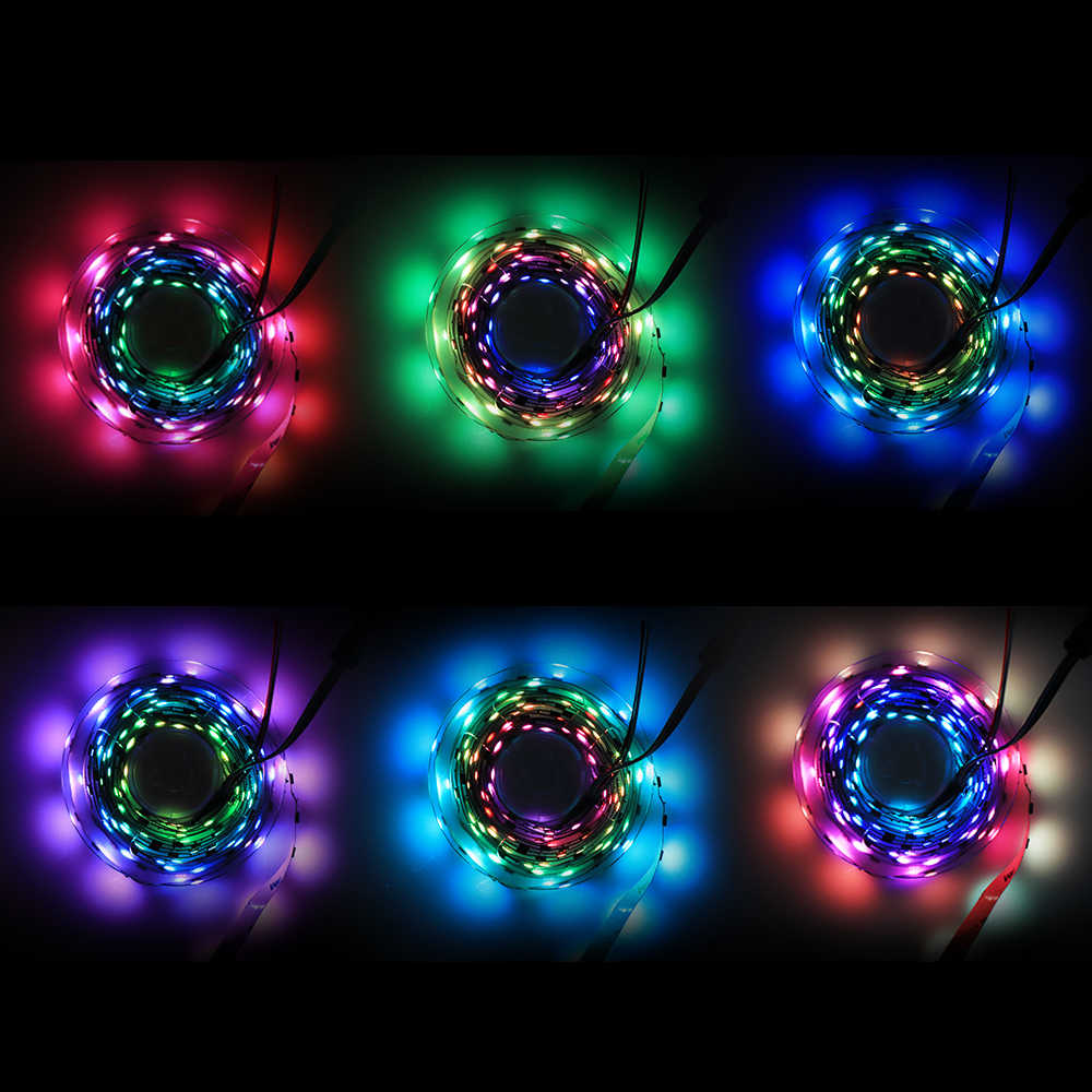 1 м-5 м 30 светодиодный s/M 2811 Пиксели программируемый индивидуальный адресуемый цифровая светодиодная лента света WS2811 5050 RGB 12 V черная матовая Светодиодная лента лампа