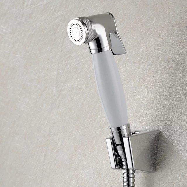 2018 Nouveau Bidet Toilettes Pulvrisateur De Luxe Petite Salle Bains Douche Chrome Plaqu En Laiton Shattaf Hand Held Portable Toilette