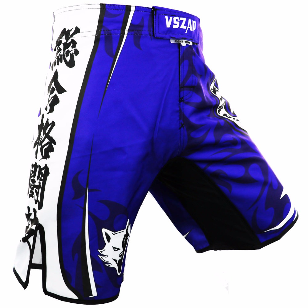 VSZAP MMA Boxing Motion Clothing Cotton Cotton Loose Size Kickboxing Shorts Muay Thai Pendek MMA Seluar pendek Seluar Mens Boxeo