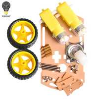 WAVGAT mart car chassis Tracing car The robot car chassis With code disc tachometer for Arduino