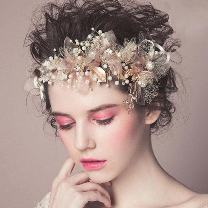 Apparel Accessories Btlige 2019 Fashion Korean Silk Yarn Flowers Bride Headdress Hair Accessories Wedding Dress Accessories Hair Acessoires