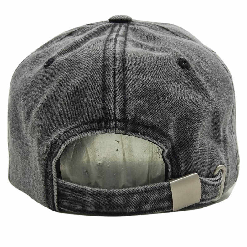 new style b7c8a bdcff ... Black Rebel Washed Denim Women Baseball Cap Dad Brand Bone Hats For Men  Hip hop Gorras ...