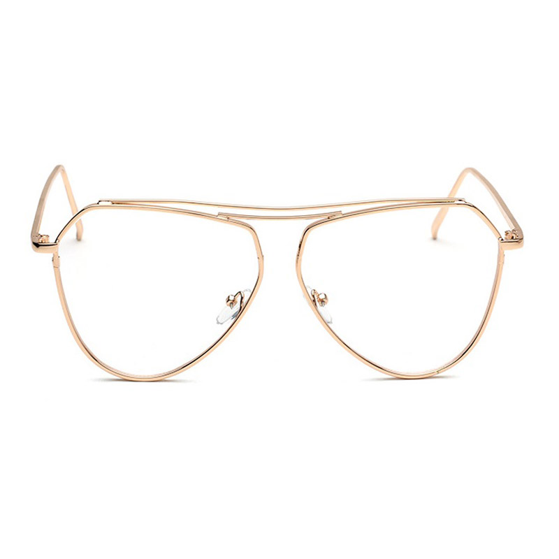 1aefc1772b Aliexpress.com   Buy 2017 New Aviator Clear Glasses Women Optical  Eyeglasses Men Gold Optical Frame Transparent Lens Glasses Frames With Clear  Shades from ...