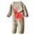 Infantil Inverno Algodão Grosso Macacão de Bebê Recém-nascido de Natal Macio Velo Ropa Bebes Traje Bonito Da Criança Macacão de Manga Longa