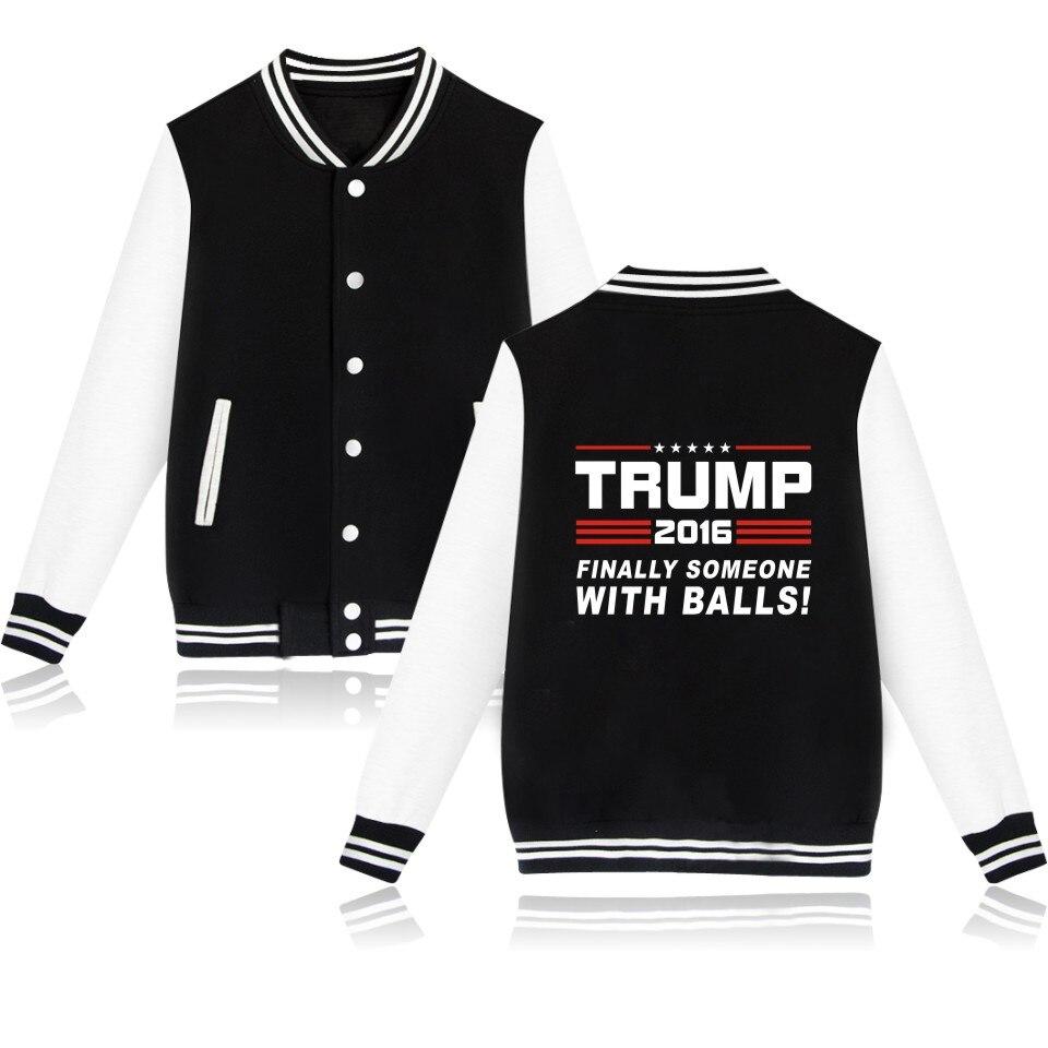 Donald Trump Baseball Jacket Women Black and USA Presidential Make America Great Again Baseball Clothes Women Coat Jackets