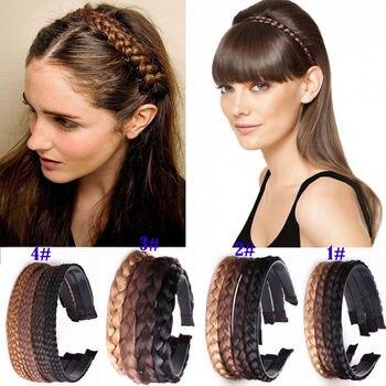 Women Girls Vintage Headband Braids Hair Band Headwear Hair Wig Accessories body jewelry