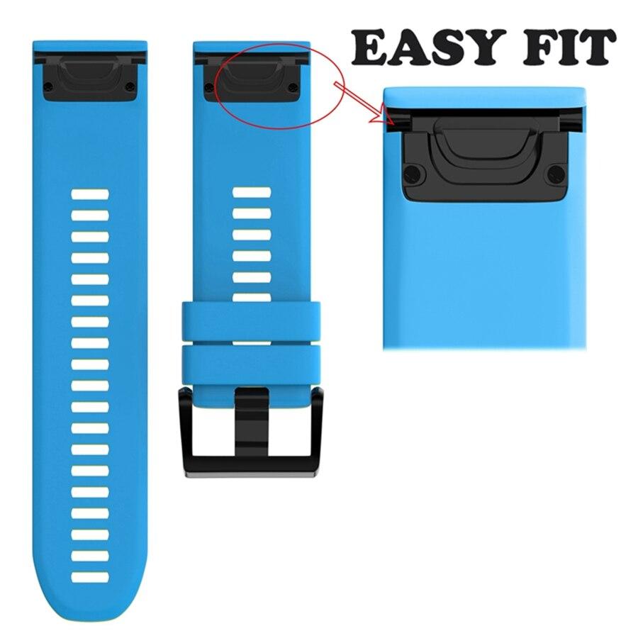XBERSTAR Armband armband für Garmin Fenix 5X für Garmin Fenix 3 3 HR GPS Uhr Ersatz Silikon Easyfit Handgelenk Band Strap
