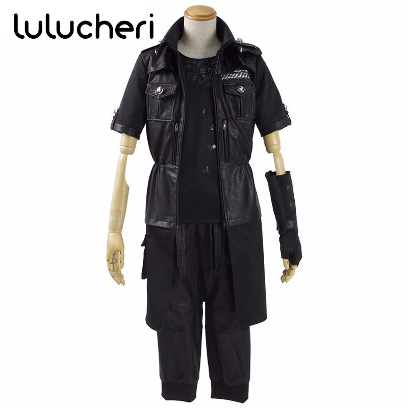 US $110 0 |Adult Final Fantasy XV Noctis Lucis Caelum Noct Cosplay Costume  Outfit Black Solid Male Female Custom Made Any Size-in Game Costumes from