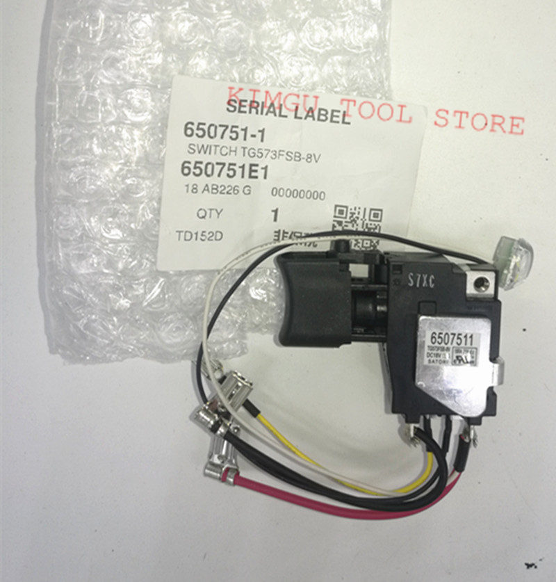 Genuine Switch 18V For Makita 650751-1 TD152D DTD152 DTD152Z  DTD152RME DTD152RFE 6507511Genuine Switch 18V For Makita 650751-1 TD152D DTD152 DTD152Z  DTD152RME DTD152RFE 6507511