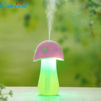 Home Cute Mashroom Aroma LED Humidifier Mushroom Air Diffuser Purifier Atomizer New 1PC