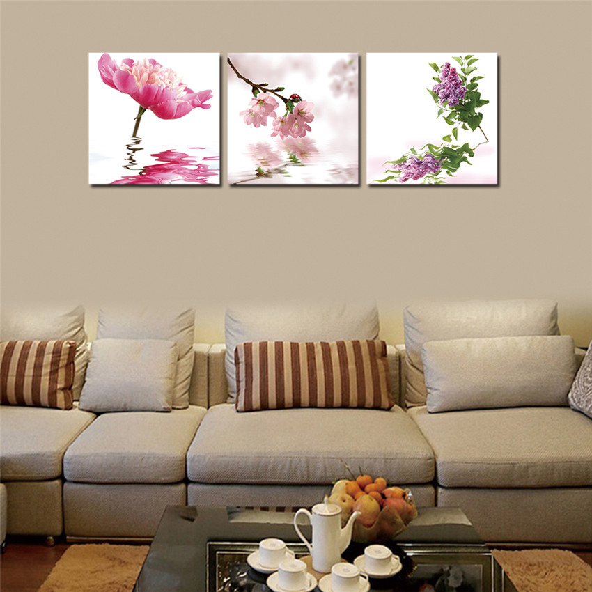 WEEN Framed Wall lower Pictures Canvas Art F Ready to hang Gift For Home HD Lotus Cuadros Decoracion Canvas Printings Arts Post